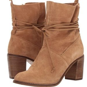 TOMS Mila Ankle Boots Toffee Beige Suede